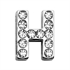 "Mirage Pet Products 3/4"" (18mm) Clear Letter Sliding Charms H 3/4 (18mm)"