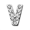 "Mirage Pet Products 3/4"" (18mm) Clear Letter Sliding Charms V 3/4 (18mm)"