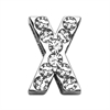 """Mirage Pet Products 3/4"""" (18mm) Clear Letter Sliding Charms X 3/4 (18mm)"""