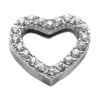 "Mirage Pet Products 3/4"" Slider Heart Charm Clear 3/4"" (18mm)"
