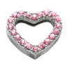 "Mirage Pet Products 3/4"" Slider Heart Charm Pink 3/4"" (18mm)"