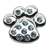 "Mirage Pet Products 3/4"" Slider Paw Charm Blue 3/4'' (18mm)"