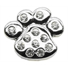 """Mirage Pet Products 3/4"""" Slider Paw Charm Clear 3/4'' (18mm)"""