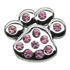 "Mirage Pet Products 3/4"" Slider Paw Charm Pink 3/4'' (18mm)"