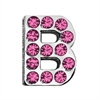 "Mirage Pet Products 3/4"" (18mm) Pink Letter Sliding Charms B 3/4 (18mm)"