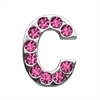 "Mirage Pet Products 3/4"" (18mm) Pink Letter Sliding Charms C 3/4 (18mm)"