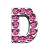 "Mirage Pet Products 3/4"" (18mm) Pink Letter Sliding Charms D 3/4 (18mm)"