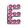 "Mirage Pet Products 3/4"" (18mm) Pink Letter Sliding Charms E 3/4 (18mm)"