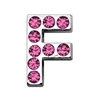 "Mirage Pet Products 3/4"" (18mm) Pink Letter Sliding Charms F 3/4 (18mm)"
