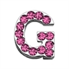 """Mirage Pet Products 3/4"""" (18mm) Pink Letter Sliding Charms G 3/4 (18mm)"""