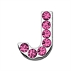 "Mirage Pet Products 3/4"" (18mm) Pink Letter Sliding Charms J 3/4 (18mm)"