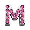 "Mirage Pet Products 3/4"" (18mm) Pink Letter Sliding Charms M 3/4 (18mm)"
