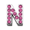 "Mirage Pet Products 3/4"" (18mm) Pink Letter Sliding Charms N 3/4 (18mm)"