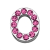 "Mirage Pet Products 3/4"" (18mm) Pink Letter Sliding Charms O 3/4 (18mm)"