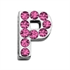 "Mirage Pet Products 3/4"" (18mm) Pink Letter Sliding Charms P 3/4 (18mm)"