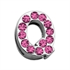 "Mirage Pet Products 3/4"" (18mm) Pink Letter Sliding Charms Q 3/4 (18mm)"