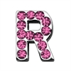 "Mirage Pet Products 3/4"" (18mm) Pink Letter Sliding Charms R 3/4 (18mm)"