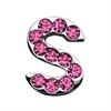 "Mirage Pet Products 3/4"" (18mm) Pink Letter Sliding Charms S 3/4 (18mm)"