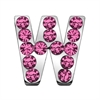"Mirage Pet Products 3/4"" (18mm) Pink Letter Sliding Charms W 3/4 (18mm)"