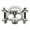 "Mirage Pet Products 3/4"" (18mm) Slider Skull Charm  Clear 3/4'' (18mm)"