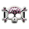 "Mirage Pet Products 3/4"" (18mm) Slider Skull Charm  Pink 3/4'' (18mm)"
