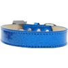 Mirage Pet Products Lincoln Plain Ice Cream Dog Collar Blue Size 16