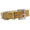 Mirage Pet Products Lincoln Plain Ice Cream Dog Collar Gold Size 16