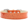 Mirage Pet Products Lincoln Plain Ice Cream Dog Collar Orange Size 16