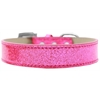Mirage Pet Products Lincoln Plain Ice Cream Dog Collar Pink Size 14