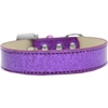 Mirage Pet Products Lincoln Plain Ice Cream Dog Collar Purple Size 16
