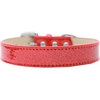 Mirage Pet Products Lincoln Plain Ice Cream Dog Collar Red Size 16