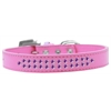 Mirage Pet Products Two Row Purple Crystal Size 12 Bright Pink Dog Collar