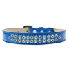 Mirage Pet Products Two Row AB Crystal Size 20 Blue Ice Cream Dog Collar