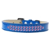 Mirage Pet Products Two Row Bright Pink Crystal Size 12 Blue Ice Cream Dog Collar