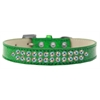 Mirage Pet Products Two Row AB Crystal Size 14 Emerald Green Ice Cream Dog Collar