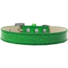 Mirage Pet Products Tulsa Plain Ice Cream Dog Collar Emerald Green Size 12