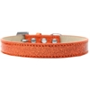 Mirage Pet Products Tulsa Plain Ice Cream Dog Collar Orange Size 12
