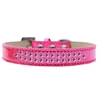 Mirage Pet Products Two Row Bright Pink Crystal Size 14 Pink Ice Cream Dog Collar