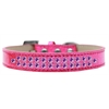 Mirage Pet Products Two Row Purple Crystal Size 18 Pink Ice Cream Dog Collar
