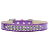Mirage Pet Products Two Row Lime Green Crystal Size 14 Purple Ice Cream Dog Collar