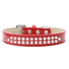 Mirage Pet Products Two Row Pearl Size 16 Red Ice Cream Dog Collar
