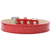 Mirage Pet Products Tulsa Plain Ice Cream Dog Collar Red Size 20