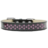 Mirage Pet Products Sprinkles Ice Cream Dog Collar Bright Pink Crystals Size 18 Black
