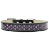 Mirage Pet Products Sprinkles Ice Cream Dog Collar Purple Crystals Size 16 Black