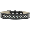 Mirage Pet Products Sprinkles Ice Cream Dog Collar Pearl and AB Crystals Size 12 Black