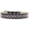 Mirage Pet Products Sprinkles Ice Cream Dog Collar Pearl and Bright Pink Crystals Size 20 Black