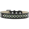 Mirage Pet Products Sprinkles Ice Cream Dog Collar Pearl and Lime Green Crystals Size 16 Black