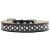 Mirage Pet Products Sprinkles Ice Cream Dog Collar Pearl and Light Pink Crystals Size 16 Black