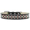 Mirage Pet Products Sprinkles Ice Cream Dog Collar Pearl and Orange Crystals Size 16 Black