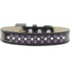 Mirage Pet Products Sprinkles Ice Cream Dog Collar Pearl and Purple Crystals Size 16 Black